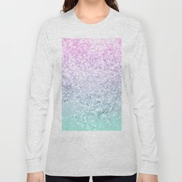 Mermaid Girls Glitter #1 (2019 Pastel Version) #shiny #decor #art #society6 Long Sleeve T-shirt