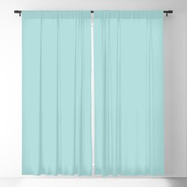 Soft Pastel Aquamarine Blue Green Solid Color Inspired by Behr Beachside Drive M460-2 Blackout Curtain