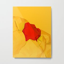 red gem of the golden mountain Metal Print