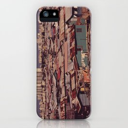 'MODERN BUILDINGS TOWER OVER THE SHANTIES CROWDED ALONG THE MARTIN PENA CANAL' iPhone Case