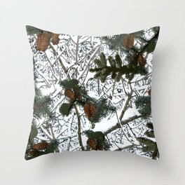Hunting: Snow Camouflage Pattern Throw Pillow