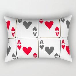 The gambler IV Rectangular Pillow