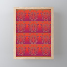 Sunset Paisley Framed Mini Art Print