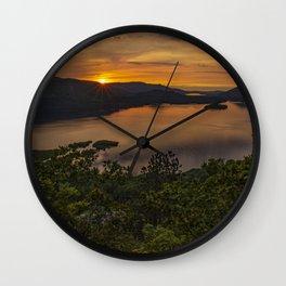 derwenwater sunset Wall Clock
