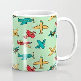 Airplanes - Green Coffee Mug
