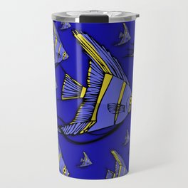 Angelfish Blue Travel Mug