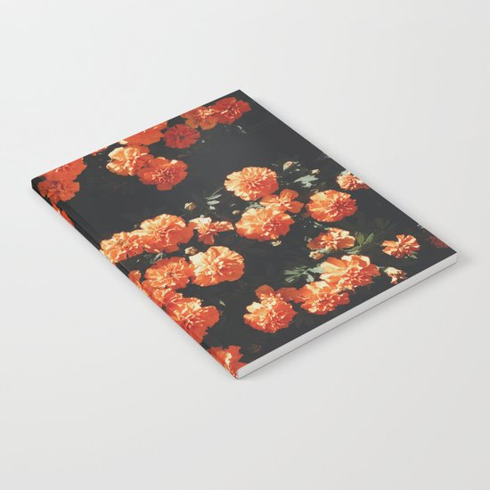 Orange flower fleurs Notebook