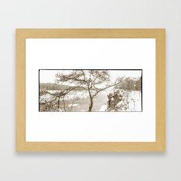 Winter on the Potomac Framed Art Print