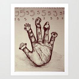 The Five Senses Art Print