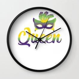 Mardi Gras Masquerade Party Queen Festival Gift Wall Clock