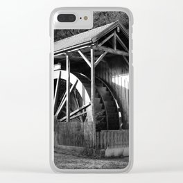 The largest water wheel, Gießenbach Clear iPhone Case