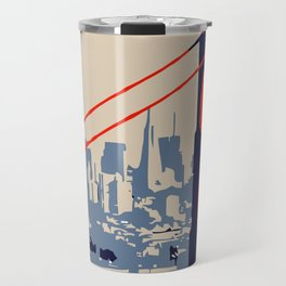 Golden gate bridge vector art Travel Mug