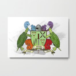 Sewer Family Crest Metal Print