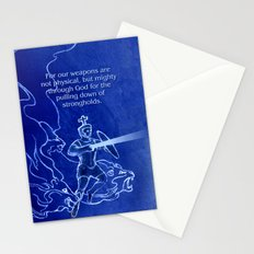 Warrior 3 With Heavenly Host Stationery Cards