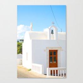199. Church Ocean, Greece Canvas Print