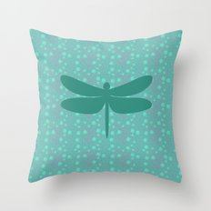 pattern with dragonfly 2 Throw Pillow
