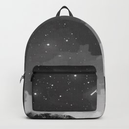 Girl watching a shooting star Backpack