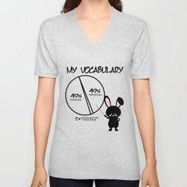 Sarcasm Hare swear vocabulary gift Unisex V-Neck