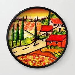 Road to Tuscany Wall Clock