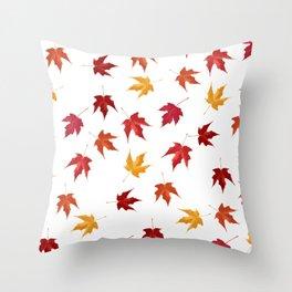 Fall Golden Leaves Throw Pillow