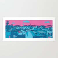 budapest Art Prints featuring Budapest by Zsolt Vidak