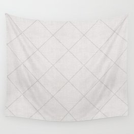 Stitched Diamond Geo in Grey Wall Tapestry