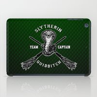 quidditch iPad Cases featuring Slytherin quidditch team iPhone 4 4s 5 5c, ipod, ipad, pillow case, tshirt and mugs by Three Second
