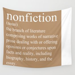Nonfiction Definition Wall Tapestry