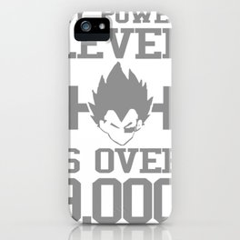 My Power Lever Is Over 9000 iPhone Case