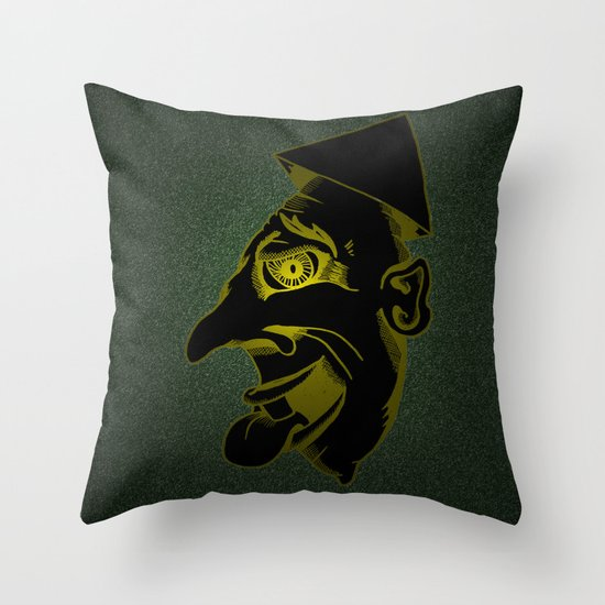 Sinister Man in a Paper Hat Throw Pillow
