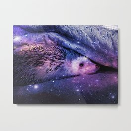 Hedgehog Sofi Metal Print