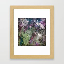 Abstract Paint Layers (Junction Box) Framed Art Print