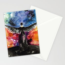 If we burn, you burn with us Stationery Cards