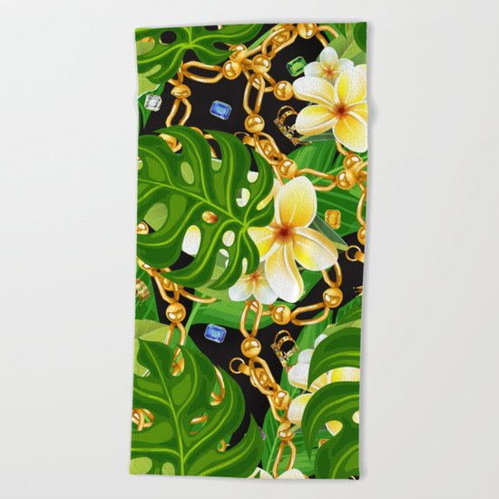 tropical elegant  Beach Towel