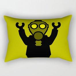 Apocalyse Minifigure wearing Gasmask by Customize My Minifig Rectangular Pillow