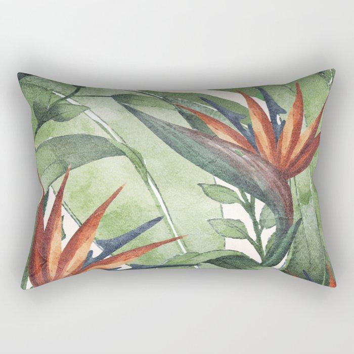 Tropical Flora I Rectangular Pillow