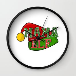 Mama Elf - Christmas Wall Clock