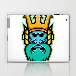 Poseidon Greek God Mascot Laptop & iPad Skin