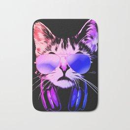 DJ Cat in Neon Bath Mat