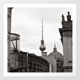 Deutsches Historisches Museum - Teletower - German Dome - Berlin Art Print