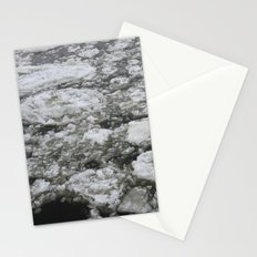 Icy river Stationery Cards