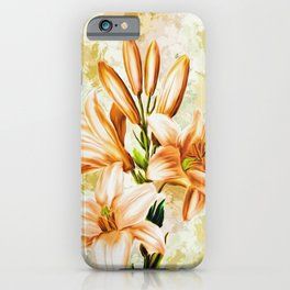 Flowers Blossom Watercolor Painting iPhone Case