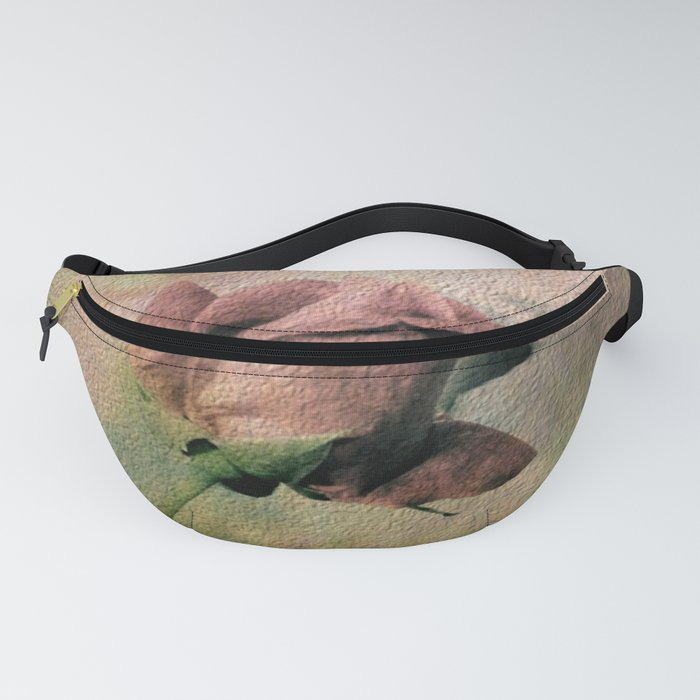 Painterly Pink Rose Bud Fanny Pack