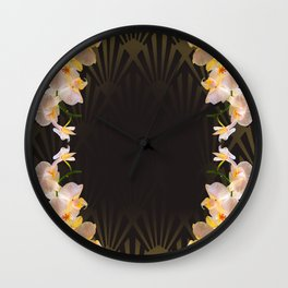 Orchid (tulips) from my terasse Wall Clock