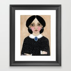 Miss Ruth, Victorian Lady Portrait Framed Art Print
