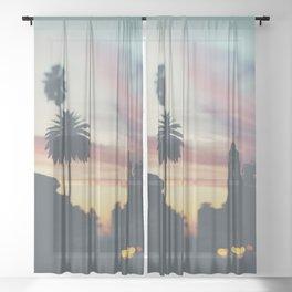 Sunset in Balboa Park print Sheer Curtain