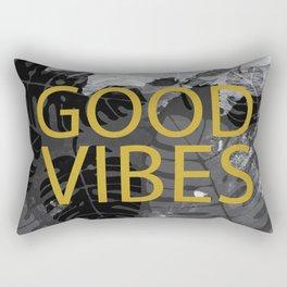 Good Vibes gold & black Rectangular Pillow