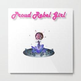 Proud Rebel Girl - Blossom Metal Print