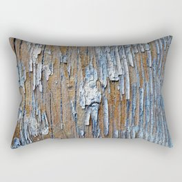 Old painted wooden plank Rectangular Pillow