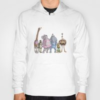 animal crew Hoodies featuring Animal Mural Crew by Michael Jared DiMotta Illustrations